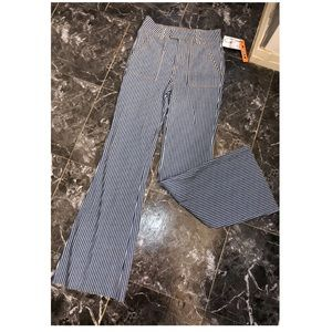 NWT High-Waisted Striped Wide Leg Jeans